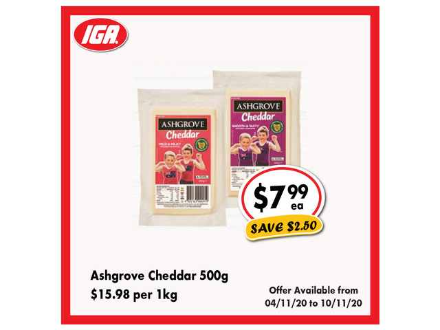 Ashgrove Cheddar - Grocery Item, IGA Ravenswood - 1
