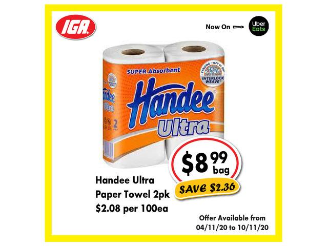 Handee Ultra Paper Towel - Grocery Item, IGA Ravenswood - 1
