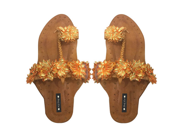 Purely Lush | Buy Handcrafted Ladies Juttis & Kolhapuri Chappals Online - 2