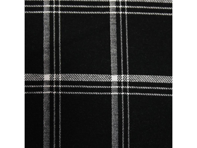 Jacquard black and white grid fabric - 1