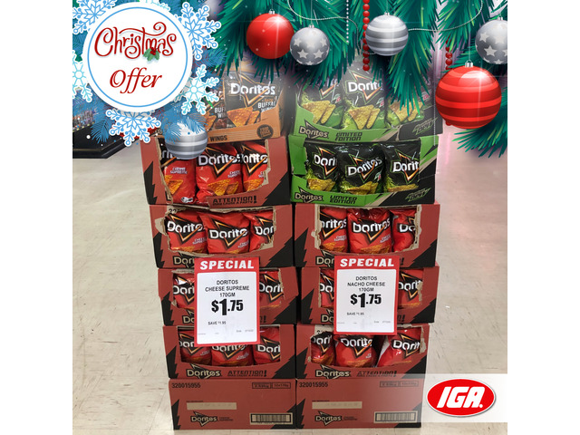 Doritos Corn Chips - Christmas Offer - IGA Ravenswood - 1