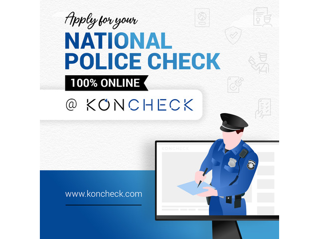 Need a Police Check for Victoria? Apply 100% online I KONCHECK - 1