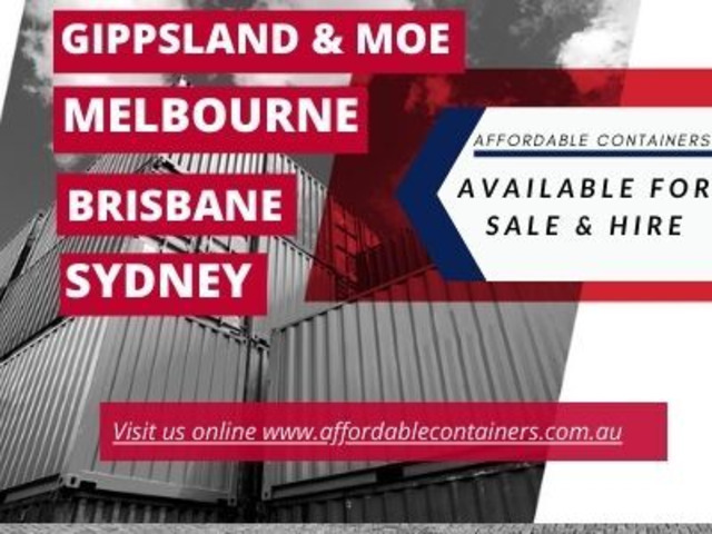 Shipping containers for sale in Gippsland and Moe - Affordable Containers - 1