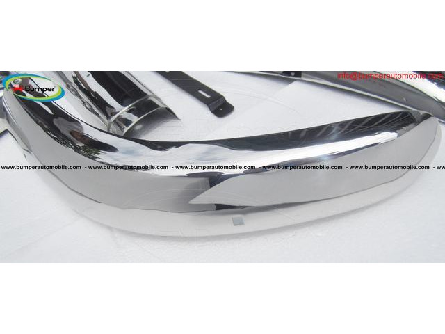Brand new Volvo PV 544 Euro Year 1958-1965 bumper by stainless steel - 4