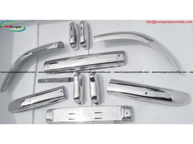 Brand new Volvo PV 544 Euro Year 1958-1965 bumper by stainless steel - 5