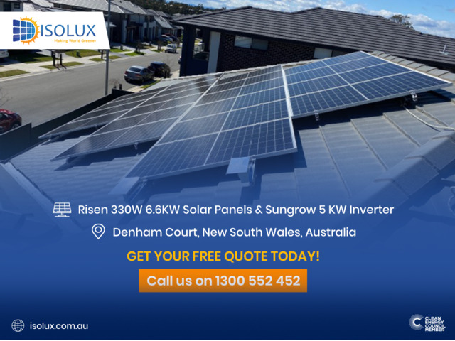 Risen 330W 6.6KW Solar Panels & Sungrow 5 KW Inverter - 1