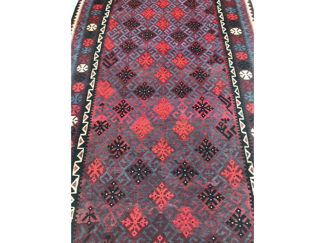 Buy Rare Decorative Tribal Design Afghan Kilim Rug 260x157cm - Shoparug - 1
