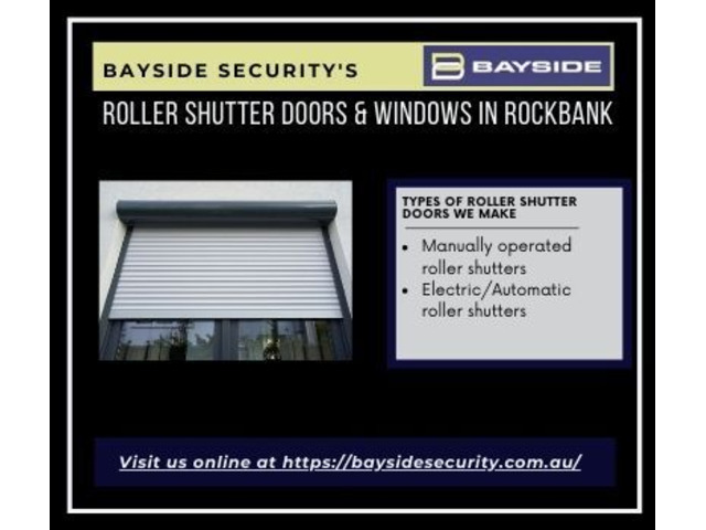 Buy roller shutter doors & windows in Rockbank – Melbourne & Werribee Sale - 1