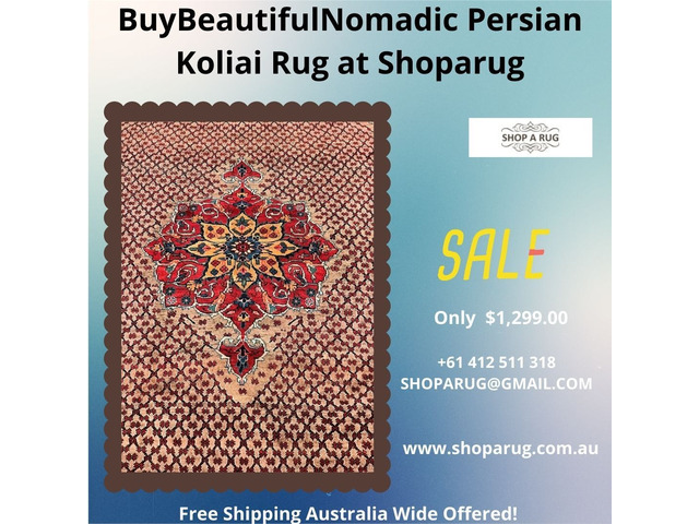 Shop for Certified Hand Knotted Tribal Koliai Rug 300x157cm Discounted Room Size at Shoparug - 1