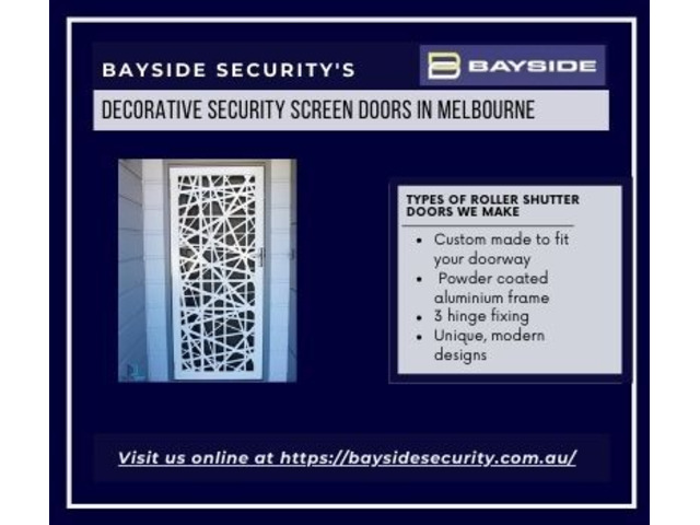 Buy matching decorative security screen doors in Melbourne – Bayside Security - 1