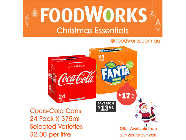 Coca-Cola Cans - Essential Item, FoodWorks Clovelly - 1
