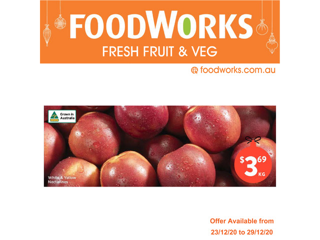 White & Yellow Nectarines - Essential Item, FoodWorks Clovelly - 1