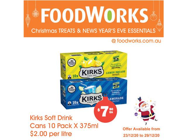 Kirks Soft Drink Cans - Essential Item, FoodWorks Clovelly - 1