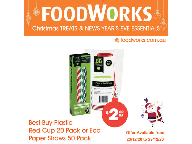 Best Buy Plastic Red Cup - Essential Item, FoodWorks Clovelly - 1