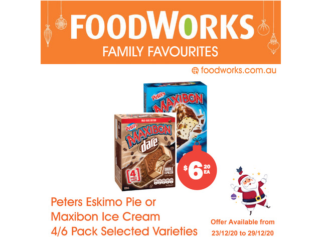 Peters Eskimo Pie or Maxibon Ice Cream - Essential Item, FoodWorks Clovelly - 1