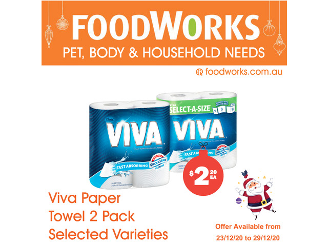 Viva Paper Towel - Essential Item, FoodWorks Clovelly - 1