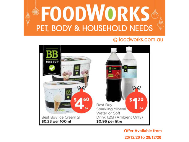 Pet, Baby & Household Needs  - Essentials Item, FoodWorks Clovelly - 1