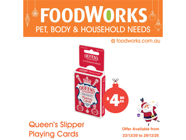 Queens Slipper Playing Cards - Essential Item, FoodWorks Clovelly - 1