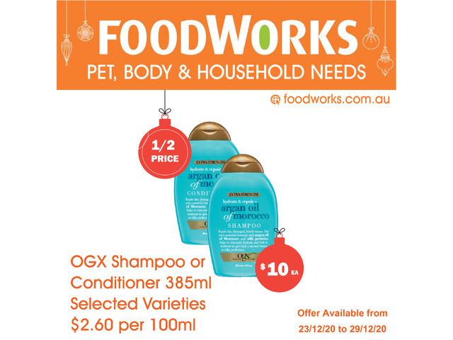 OGX Shampoo Conditioner - Essential Item, FoodWorks Clovelly - 1