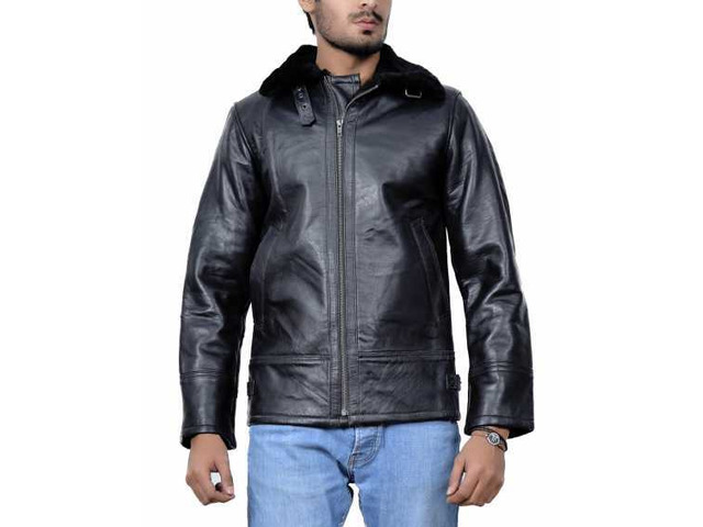 New York Shearling Leather Jacket - 1