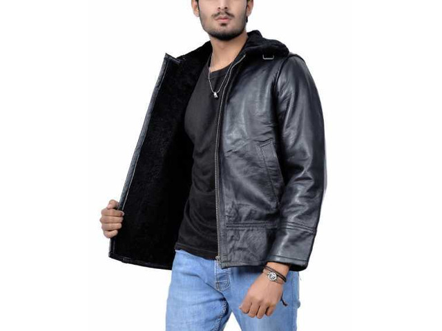 New York Shearling Leather Jacket - 4