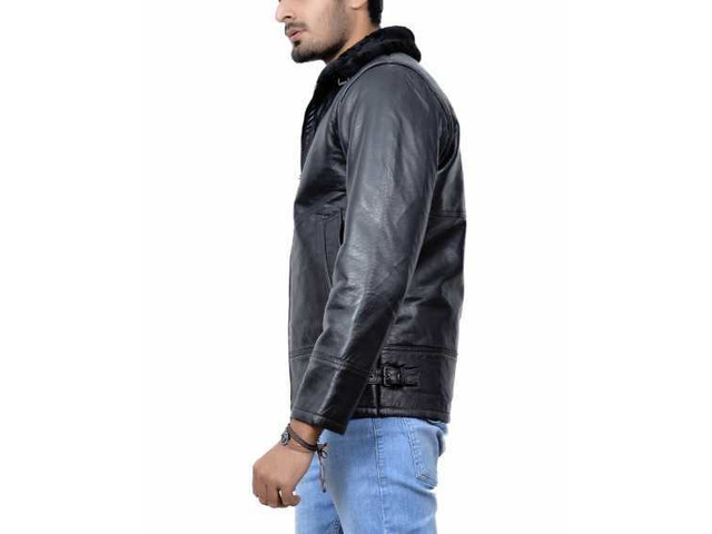 New York Shearling Leather Jacket - 5