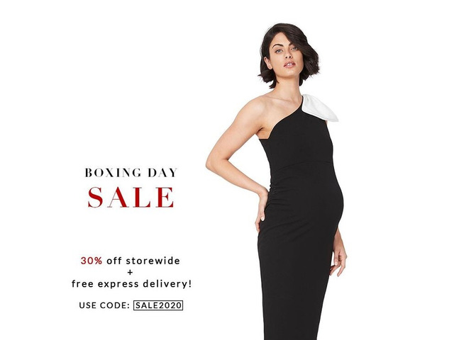 End of year Sale 30% OFF storewide plus FREE express delivery at Soon Maternity! - 1