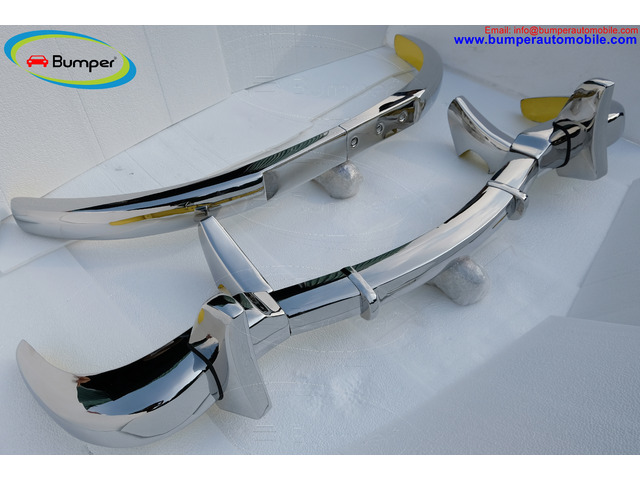Mercedes 300SL gullwing coupe brand new stainless steel bumpers - 1
