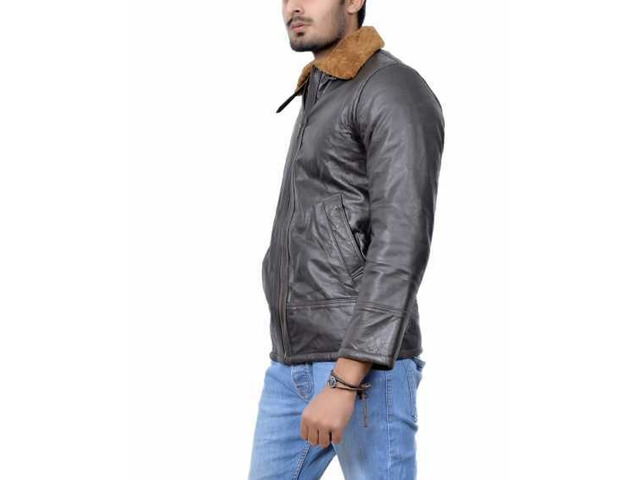 Orleans Leather Jacket For Mens - 5