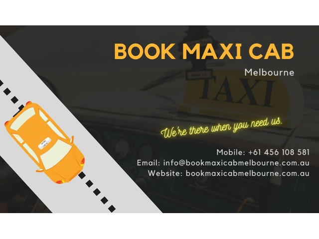 Get Best Maxi Cab Services In Melbourne - 1