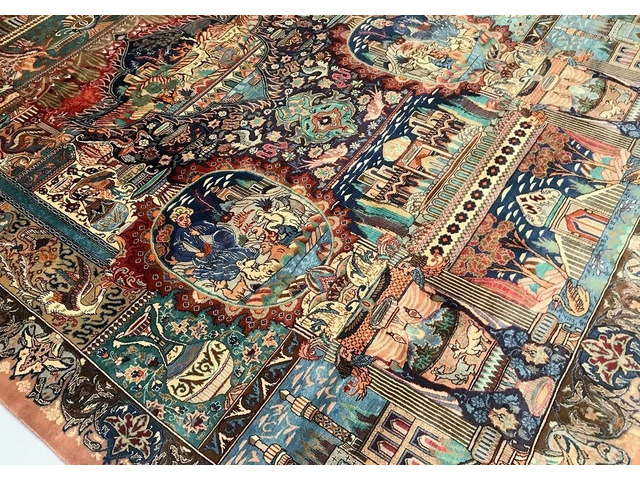 Large Room Size Certified Hand Knotted Persian Wool Rug at Shoparug - 1