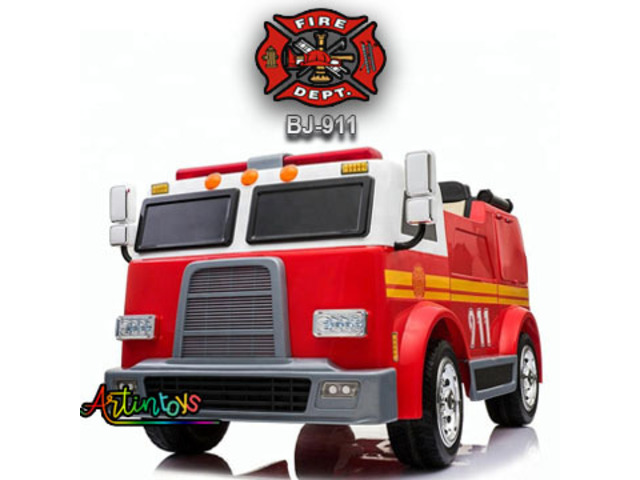 Ride On Truck | 24 V FIRE TRUCK BJ-911 KIDS RIDE ON CAR RED - On Sale | Artintoys - 1