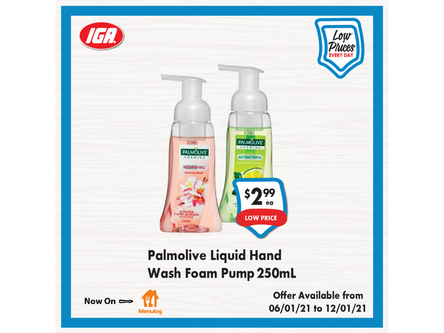 Palmolive Liquid Hand Wash Foam Pump at IGA Ravenswood - 1