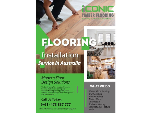 Timber Floor Sanding | Polishing | Grinding | Installation | Iconic Timber Flooring - 1