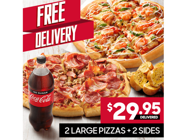 2 Large Pizzas On Sale Pizza Hut Orange - Orange, NSW - 1