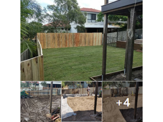Fencing, retaining, earthmoving and turfing. View 1 - 1