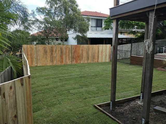 Fencing, retaining, earthmoving and turfing. View 1 - 2