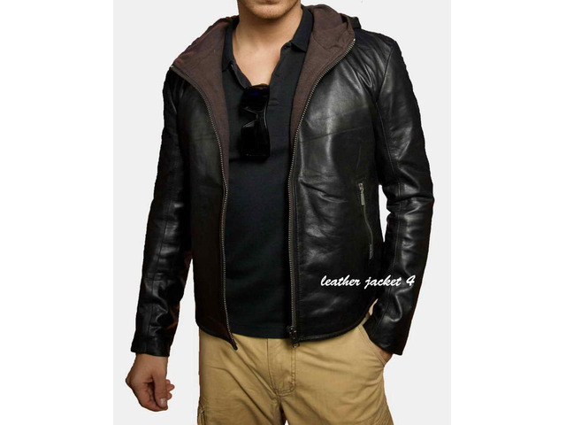 Angers Hooded Leather Jacket - 1