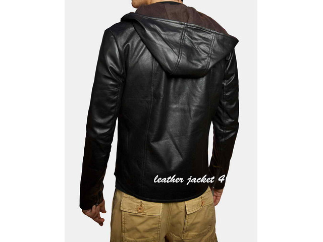 Angers Hooded Leather Jacket - 2