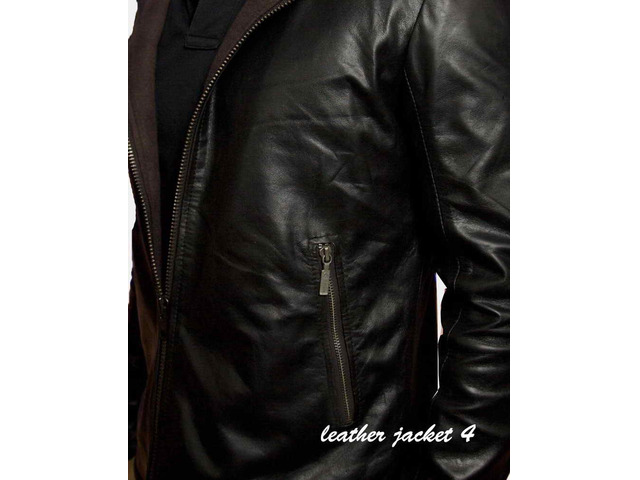 Angers Hooded Leather Jacket - 3