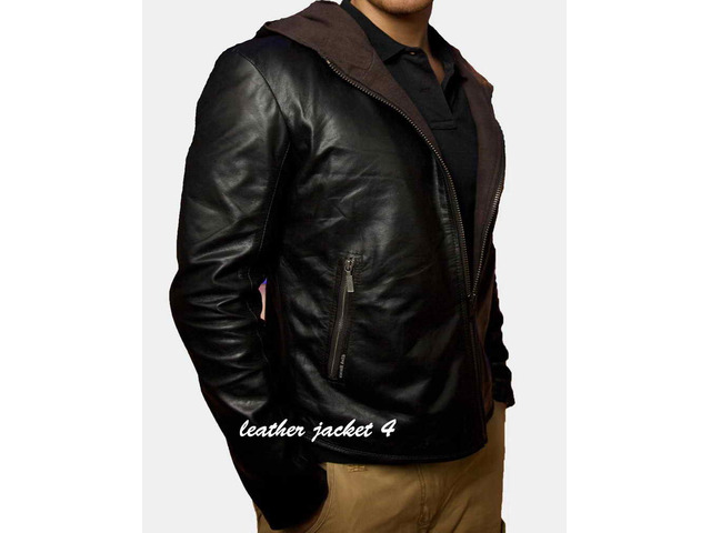 Angers Hooded Leather Jacket - 5