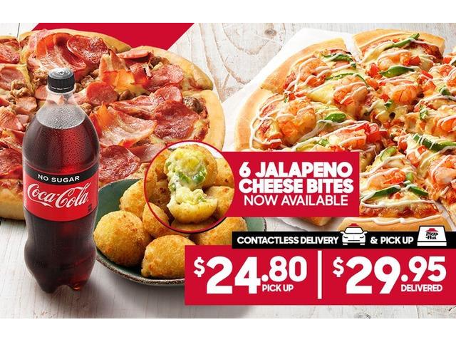 2 Large Pizzas On Sale Pizza Hut Orange - Orange, NSW - 1