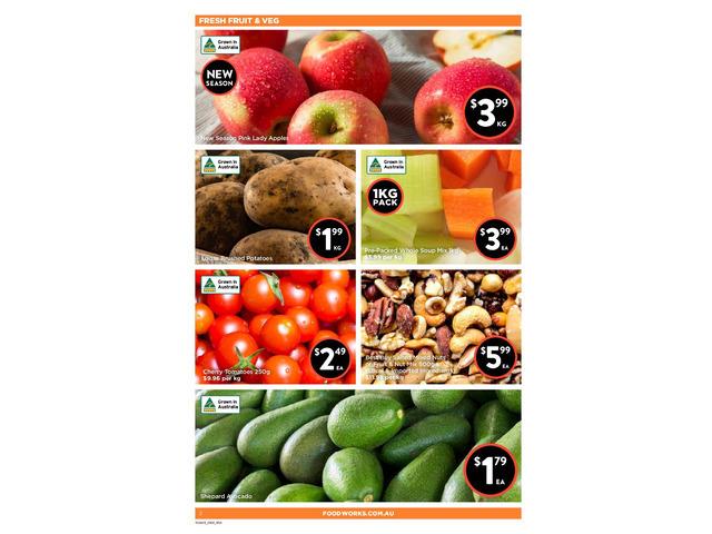 Fresh Fruit & Veg On Sale FoodWorks Orange - 1