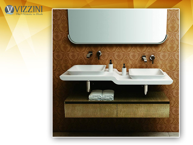 Buy Latest Wall Hung Stone Basin - Vizzini - 1