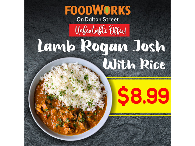Order Lamb Rogan Josh with Rice From at Foodworks Orange - 1