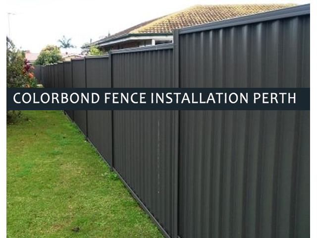 Colorbond fencing installation Perth is an affordable way to limit boundaries around your home. - 1