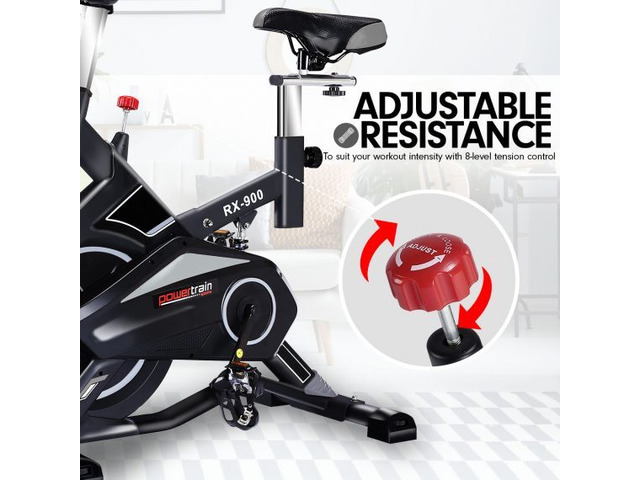 Powertrain RX-900 Exercise Spin Bike Cardio Cycling – Silver - 1