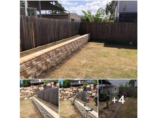 Retaining wall garden bed - 1