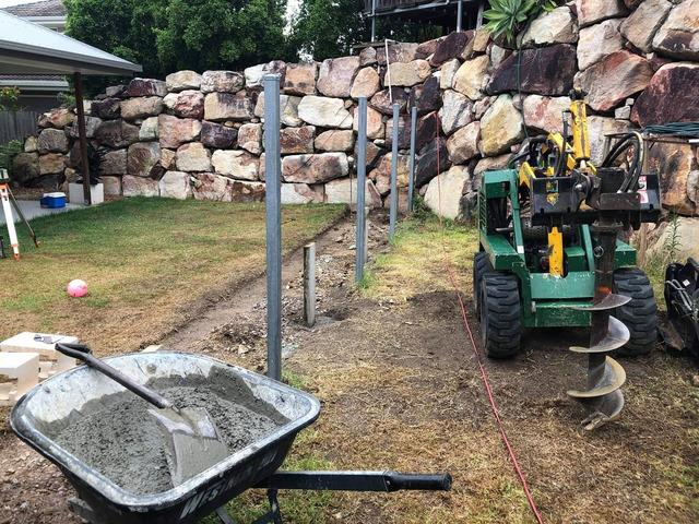 Retaining wall garden bed - 6