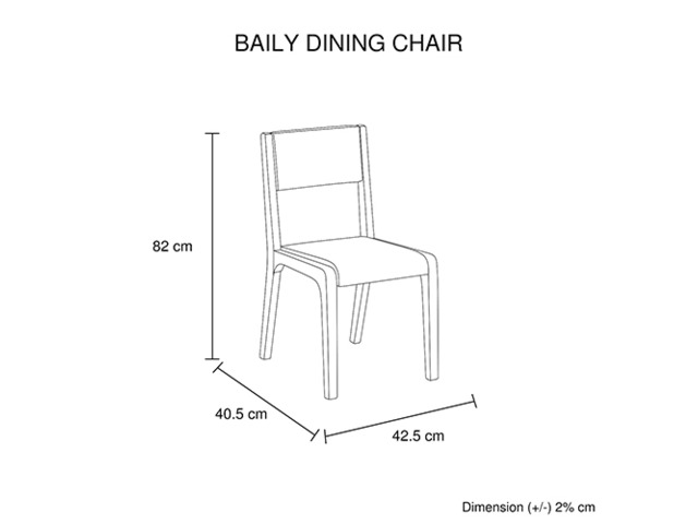 2X Baily Dining Chair Black & White - 5